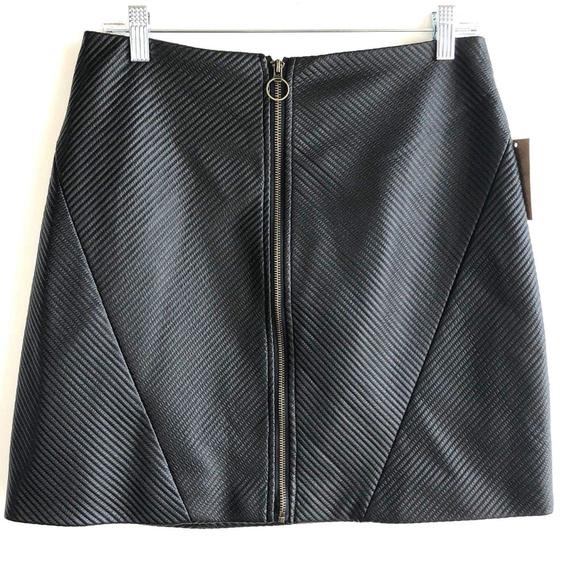 031068f6c RACHEL Rachel Roy Skirts | Nwt Rachel Ray Front Zip Skirt Black Mini ...